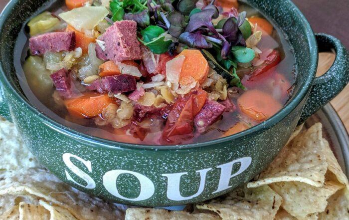 Microgreen soup