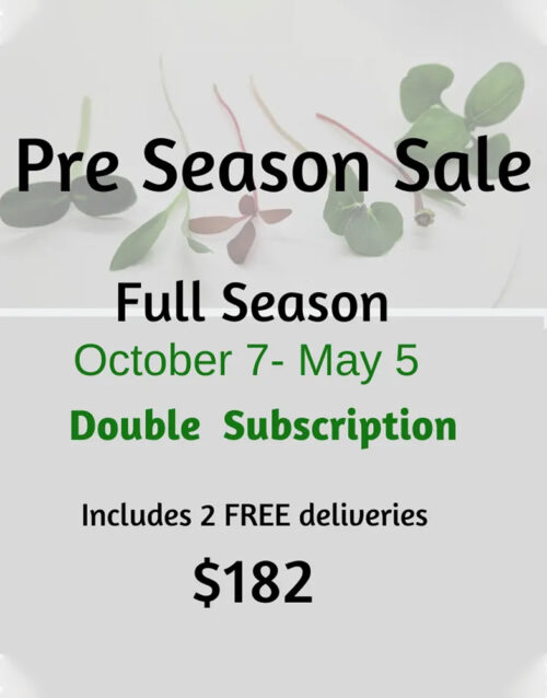 microgreens pre season double