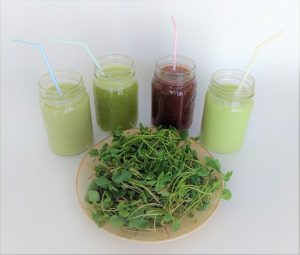 smoothies made with microgreens