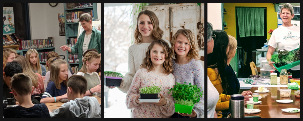 Teaching about Microgreens to children and adults