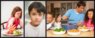 Unhappy children with poor eating habits